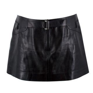 Plein Sud Leather Mini Skirt