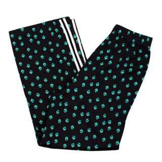Maje Black & Green Printed Tracksuit Bottoms