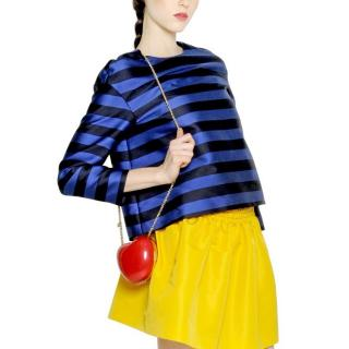 Red Valentino Silk-blend Striped Top