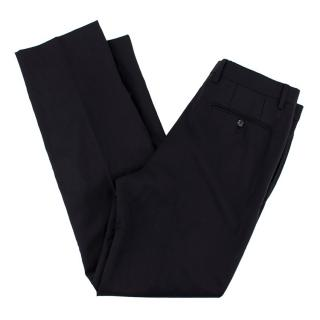 Burberry Black Wool Trousers