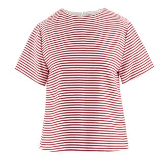 Red Valentino Red & White Striped Boxy Top