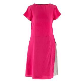 Emporio Armani Cerise Silk Dress