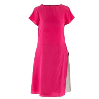 Emporio Armani Cerise Silk Dress