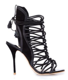 Sophia Webster Black Lacey Sandals