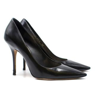 Dior Black Leather Pointed Stiletto Pumps