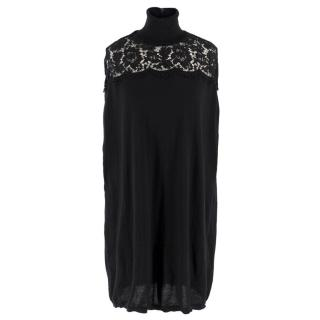 Valentino Black Wool Lace Jumper/Tunic