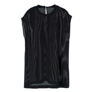 Akris Black Mesh Top