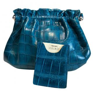 Massimo Calestrini Shiro crocodile bag