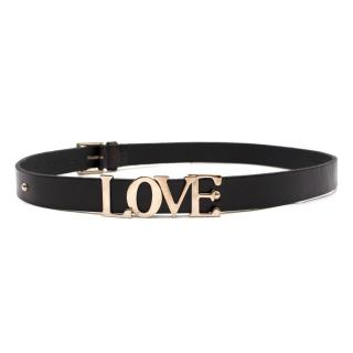 Dolce & Gabbana 'Love' Black Leather Belt