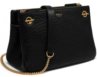 Mulberry Black Pebbled Leather Winsley Bag
