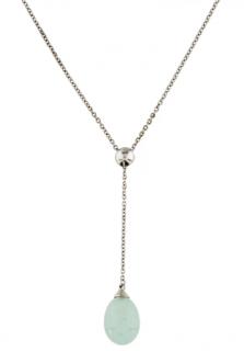 Tiffany Rainbow Drops Aquamarine 18k White Gold Lariat Necklace
