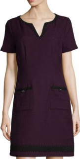 Karl Lagerfeld Short-Sleeve Tweed Sheath Dress