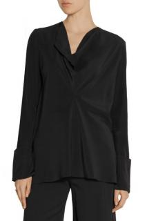Chloe Draped Silk Crepe De Chine Blouse
