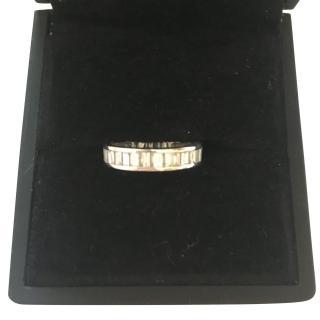 Bespoke 2.5 Carat baguette diamond channel set full eternity ring