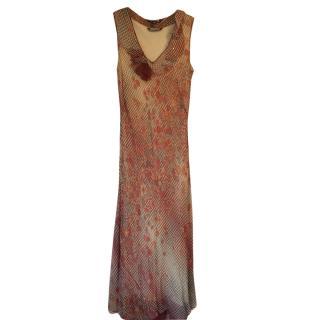 Rozae Nichols Patterned Silk Dress