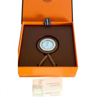 Hermes leather pocket watch