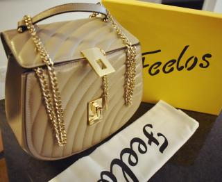 Feelos Sultan ivory chain strap bag (BLACK FRIDAY SALE)