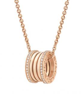 Bulgari Bzero1 Rose Gold & Diamond Pendant Necklace