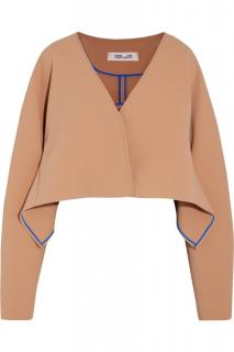 Diane Von Furstenberg Cropped Button-Up Jacket