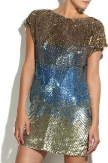 Matthew Williamson Sequin Mini Dress