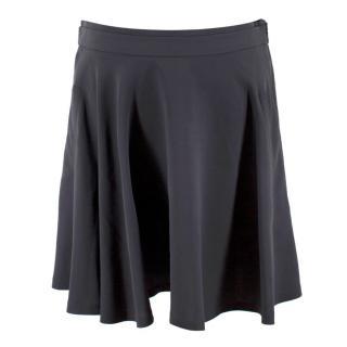 Brunello Cucinelli Grey Silk Miniskirt