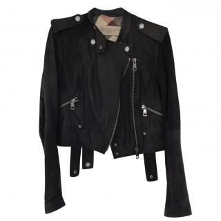 Burberry Brit Leather Biker Jacket
