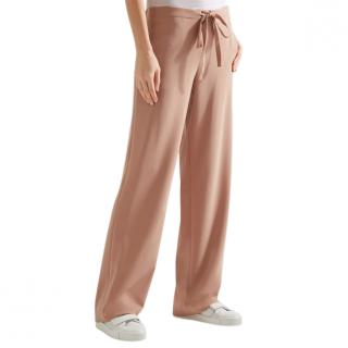 Theory Winszlee Blush Admiral Crepe Wide Leg Trousers