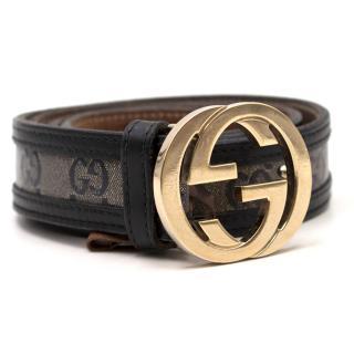Gucci GG Coated Monogram Belt