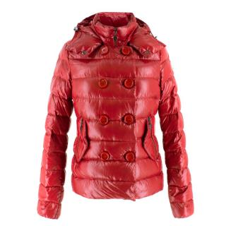 Moncler Red Down Puffer Jacket