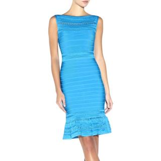Herve Leger Gabbi Bandage Crochet Dress