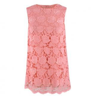 Christopher Kane Pink Lace Top