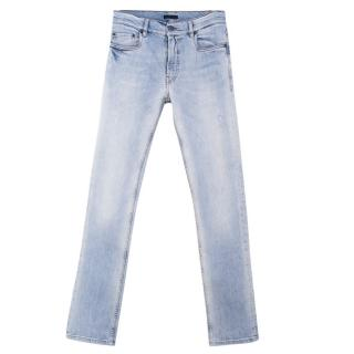 Prada Light Blue Distressed Jeans