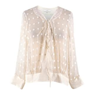 Iro Sheer Embroidered Blouse