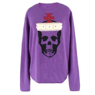 Lucien Pellat-Finet Cashmere Rhinestone Embellished Skull Jumper