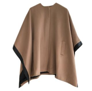 Club Monaco Leather Trimmed Wool Cape