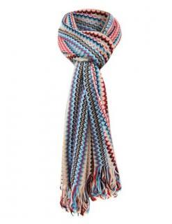 Missoni Striped Zigzag Knit Scarf