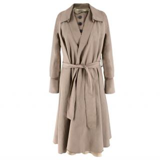 Roland Mouret Check Trench Coat