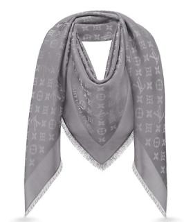 Louis Vuitton Silver Shine Shawl /Scarf