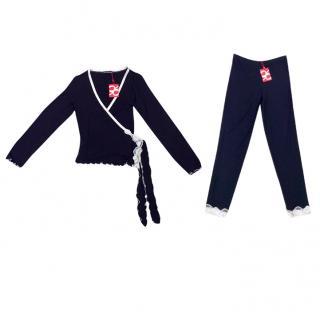 Cotton Club Couture Black & Cream Leavers Lace Pyjamas