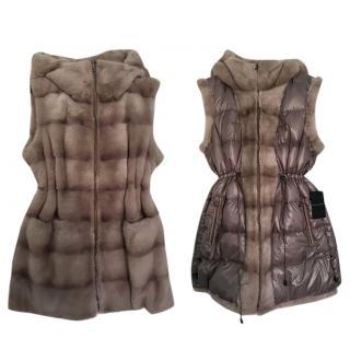 Dennis Basso Reversable Mink fur Vest