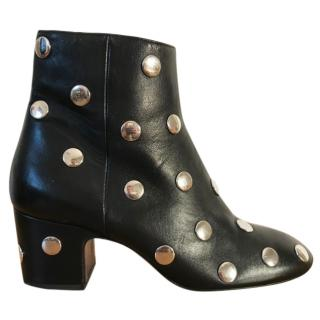 Bimba Y Lola black studded leather ankle boots