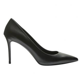 Theory Black leather court shoes