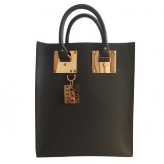 Sophie Hulme Albion Mini Tote in Charcoal Grey