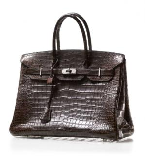 Hermes Porosus Crocodile Mat Havane Chevre 40cm Birkin Bag