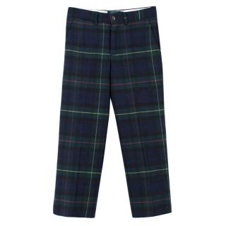 Polo Ralph Lauren Slim-fit Tartan Wool-blend Trousers