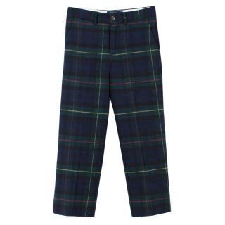 Polo Ralph Lauren Slim-fit Tartan Wool-blend Trousers