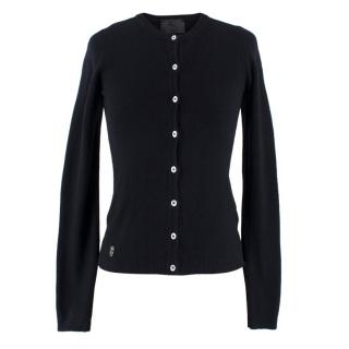 Philip Plein Black Silk Skull Cardigan