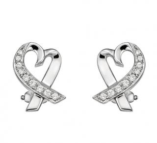 Tiffany 18k Paloma Picasso Loving Heart Diamond Earrings