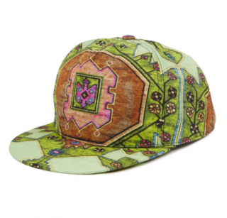 Givenchy Men's Green Carpet Print Baseball Cap