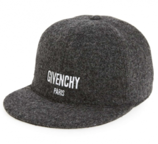 Givenchy Men's Grey Logo Baseball Cap